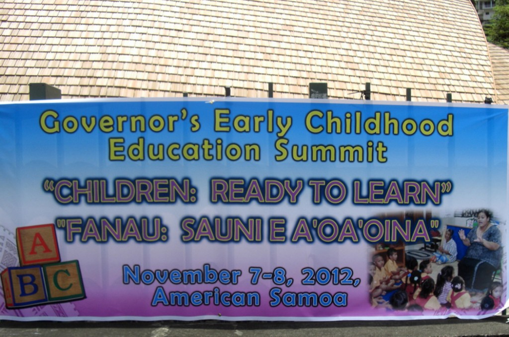 The Governor of American Samoa hosts an early childhood meeting.