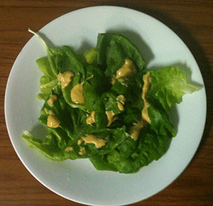 """Sid Salad"" with homemade dressing–yummy!"