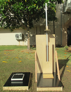Platforms designed for the scale and stadiometer to give a level surface while doing measurements outdoors.