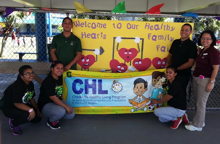 "The Guam CHL team at ""Healthy Hearts Day"" sponsored by MU    Lujan Elementary School in Yona."